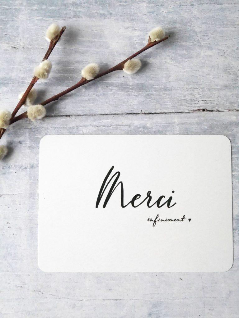 Carte de remerciement, Thank you card, carte merci