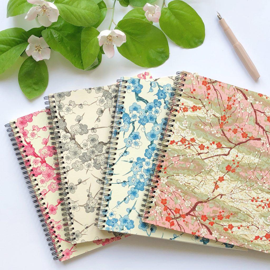 Carnet spirale papier japonais