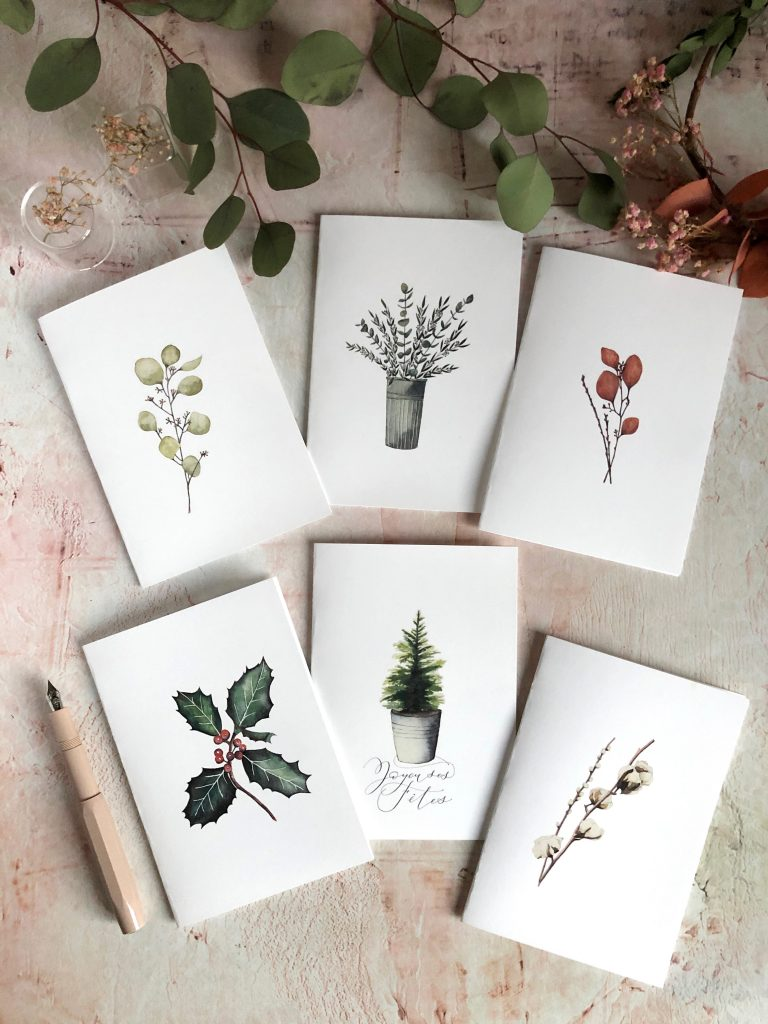 Cartes aquarelle nature