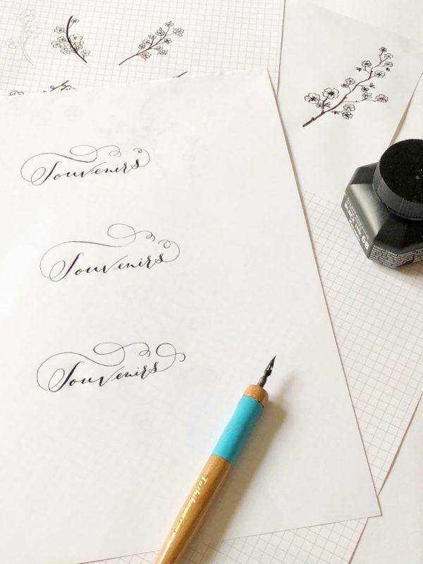 Calligraphie souvenir