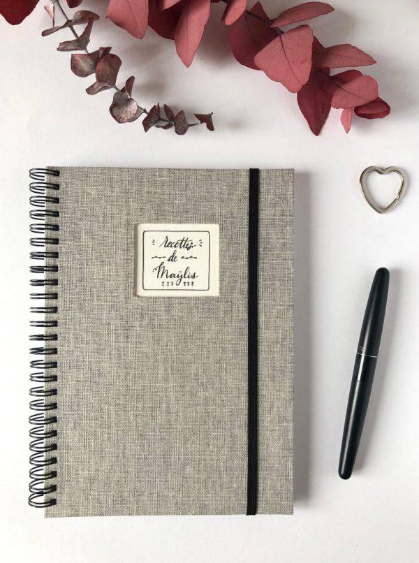 cahier de recettes à remplir