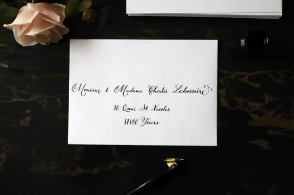Jolie écriture calligraphie