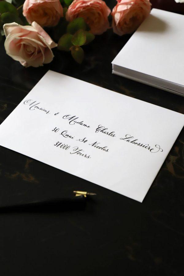 Calligraphie enveloppe mariage