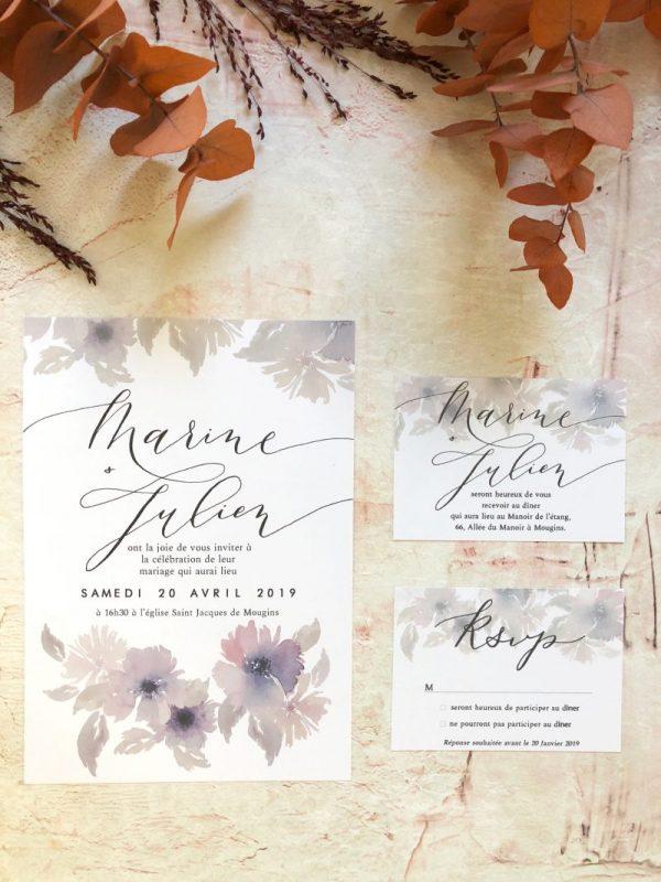 Invitation mariage champêtre chic