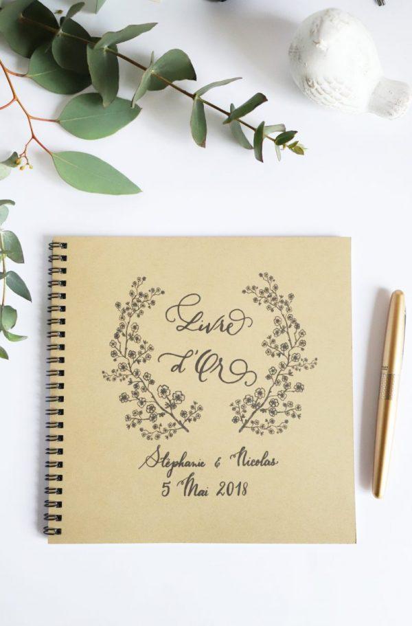 livre d'or fleurs de cerisier