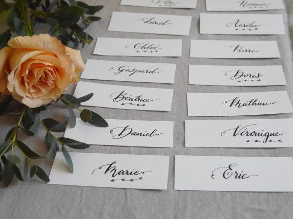 Etiquette personnalisée mariage