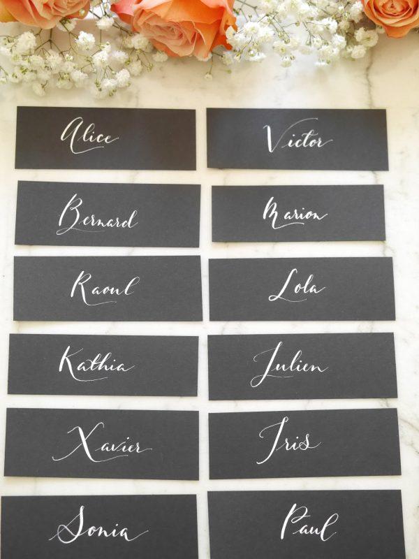 Etiquette personnalisée à la plume, calligraphie moderne