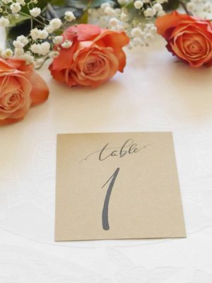 Marque table mariage