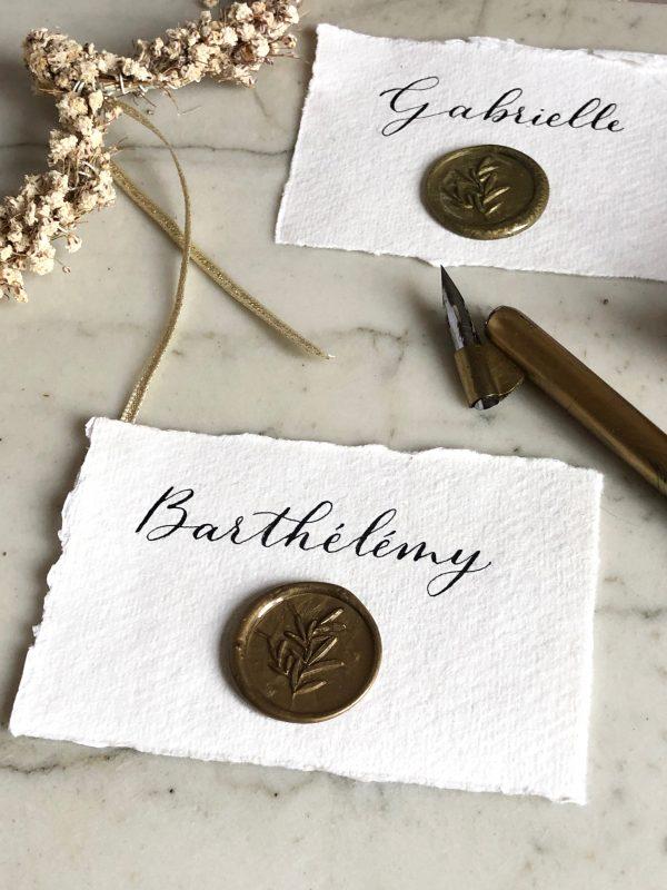 calligraphie sur papier fait main