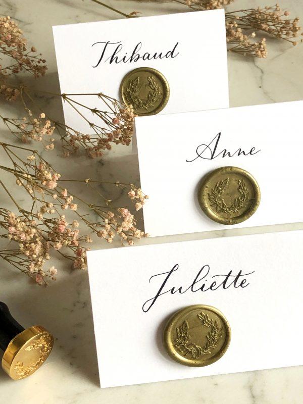 calligraphie et sceau botanique