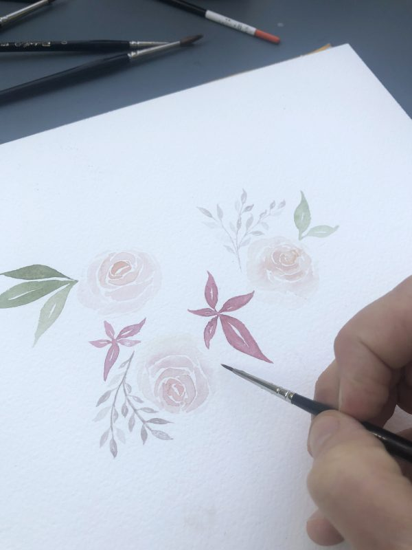 Aquarelle de rose