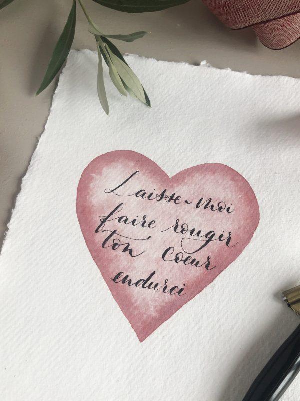 Calligraphie sur papier fait-main