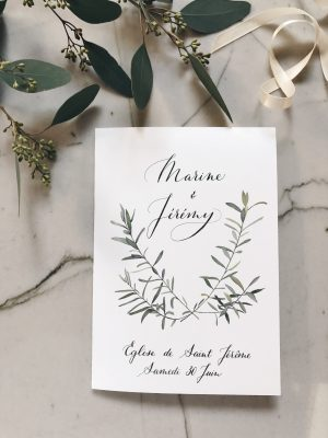 Programme de célébration de mariage