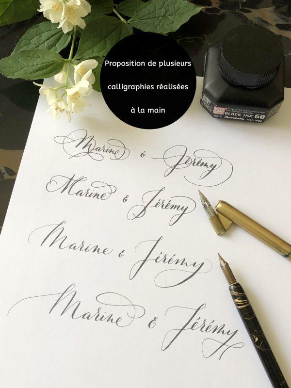 Calligraphie à la main