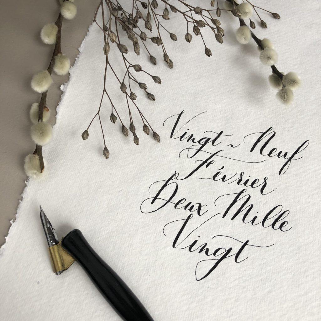 Calligraphie date