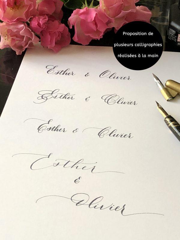 Calligraphie invitation mariage