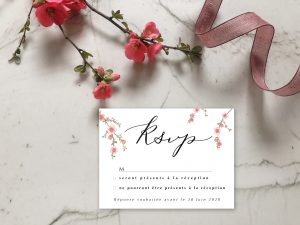 Carton réponse invitation mariage