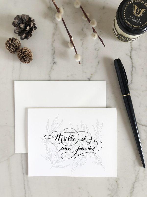 """Carte """"mille et une pensées"""