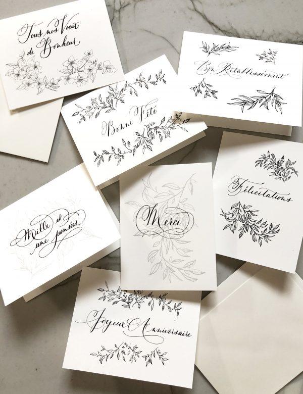 set de cartes à souhaits