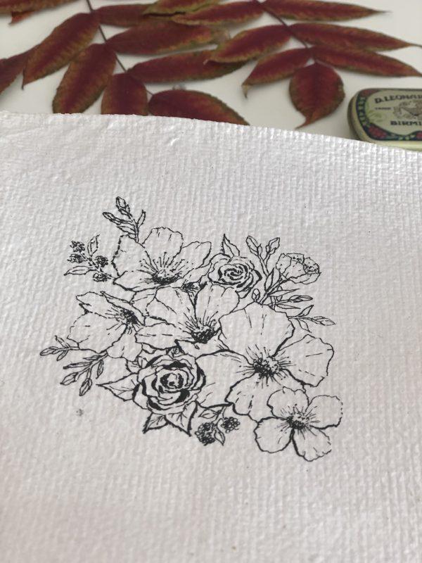 illustration botanique sur papier fait-main N°3