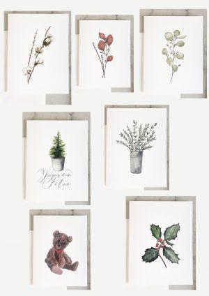 set de cartes aquarelle