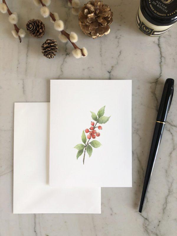 carte de voeux aquarelle